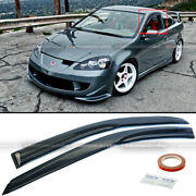 Fit 02-06 Acura Rsx Dc5 Mugen Style 3d Wavy Tinted Window Visor Vent