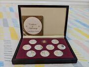 The Great Masters Of Sikhism Silver And Gold Coins Set By B.h. Mayer's Mint