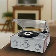 3-speed 33/45/78 Rpm Lp Record Player Turntable Stereo Speakers Am/fm Radio New