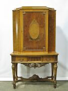 Antique Cabinet-on-stand Liquor By High-end Maker Robert Irwin Hand Painting