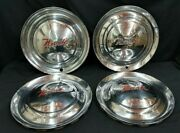 Set Of 4 Vintage 1950and039s Nash Chrome Hubcaps