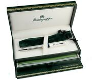 Montegrappa Privilege Small Etched Sterling Silver Ballpoint Pen