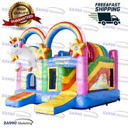 16x13ft Commercial Inflatable Unicorn Bounce House Jumping With Air Blower