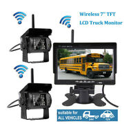 7 Monitor Wireless Ir Rear View Backup Camera Night Vision System For Rv Truck