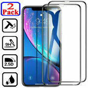For Iphone 13 12 11 Pro Max 10d Full Cover Tempered Glass Screen Protector Film