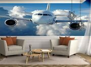 Commercial Airliner Photo Wallpaper Wall Mural Decor Paper Poster Free Paste