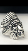 925 Solid Silver Indian Head Ring 10kt 14kt Gold New Any Size