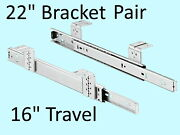 Accuride 2109-22d Drawer Slide, One Par 22, Ball Baring Sliders 16 Of Travel
