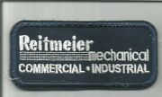 Reitmeier Mechanical Commercial Industrial Advertising Patch 1-1/2 X 3-1/2 2481