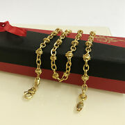 18 Kt Hallmark Solid Yellow Gold Curb Cuban Necklace Menand039s Chain 13.150 Grams