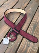 The Leather Shop Womans Belt Burgundy Red Size M Stile 2642 New With Tags