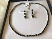 New Rare Russian Elite Shungite Necklace With Free Earrings L@@k Stunning