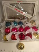 Antique/vintage Mercury Glass Christmas Ornaments Sh.br.andam.md., Lot Of 16