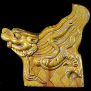 Ming Dynasty Yellow Glazed Roof Ornament In Water Dragon Form Y3440