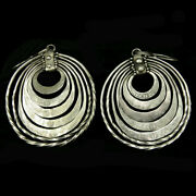 Miao Culture 5 Tiered Silver Earrings Engraved With Dragons Y427