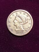 2.5 Gold Liberty 1873-s Very Fine Circulated Gold Coin