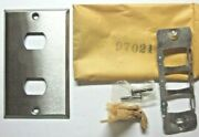 Bryant Usa 1960s Brushed Satin Chrome Despard 2 Switch Outlet Wall Plate 1 Cover