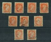 Vf And Superb Centered Dated Copies 3 Cent Small Queen Lot Canada