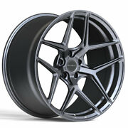 19 Brixton Forged Rf7 Gunmetal 19x9.5 Concave Wheels Rims Fits Audi Tt