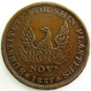 1837 Us Hard Times Rising Phoenix / May Tenth Liberty Not One Cent Token Ht-66
