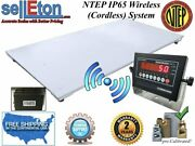 New Ntep Floor Scale 60 X 84 5and039 X 7and039 Wireless Cordless 10000 Lbs X 2 Lb
