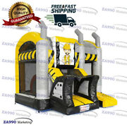 16x13ft Commercial Inflatable Bulldozer Bounce House And Slide With Air Blower