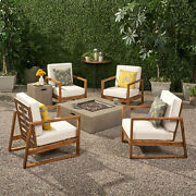 Marlee Outdoor 4 Seater Chat Set With Fire Pit