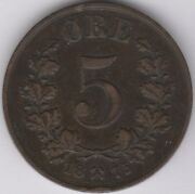 1875 Norway 5 Ore Coin   European Coins   Pennies2pounds