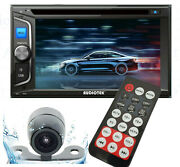 6.2 2din Car Radio Stereo Cd Dvd Player Bluetooth Touchscreen Aux Usb Mp5 + Cam