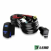 Saber X - 3 Lead Wiring Harness Kit 40a 12v Fuse Relay 16ft Brand New