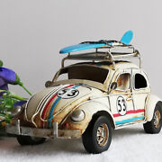 One Of Tin Plate Model Herbie The Love Bug Vw Collection Surf Board Vintage