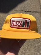Vintage Case Hat Cap Snapback Patch Tractor Farmer Trucker Usa K-products Diesel