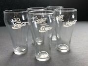 Vintage Coke Coca Cola Small Stackable 8 Oz Curved Drinking Glass