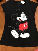 Womenand039s Teen Walt Disney Mickey Mouse T-shirt New W/ Tag Large