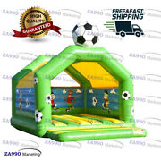 16x13ft Inflatable Soccer Bounce House Trampoline Jumping Castle With Air Blower