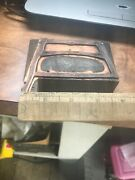 Rare Antique Copper Plate Printing Block Henry Disston Buck Bow Saw Advertising