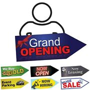 Giant 45x16 Arrow Sign For Street Waver, Sign Spinner And Business Advertising
