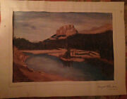Reproduction Of Dwight Eisenhowerand039s Painting Given To Advisor Arthur Burns 1959