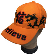 Believe Double Dragon Embroidered Adjustable Curved Visor Baseball Cap Hats Lot