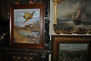 Great Old Pair Of Pheasant Painting