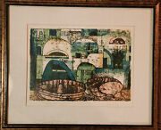 L Mid Century Modern Limited Edition Engraving Or Lithograph By Eva Fischer.