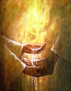 Yongsung Kim Foot Washing Canvas Jesus Christ Washing A Person's Feet With Water