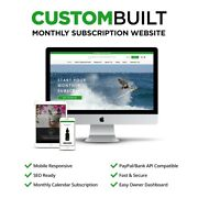 Monthly Subscription Website Template 100 Turnkey Website