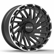 20 Solid Blaze Machined 20x12 Rims Wheels Fit Lifted Chevy Silv 2500hd 01-10