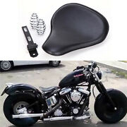 Black Motorcycle Spring Solo Seat For Harley Davidson Fatboy Bobber Softail Dyna