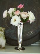 Antique American Silver Bridge Trophy Classic Art Deco Style Footed Floral Vase