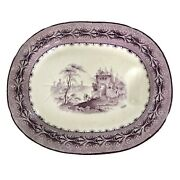 19th C. English Large Well And Tree Staffordshire Platter