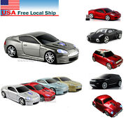 Gift Cordless 2.4ghz Wireless Optical Car Mouse Laptop Game Mice Usb Receiver Us