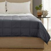 Kathy Ireland Weighted Blanket With Glass Beads - Grey Or Silver