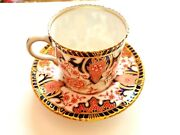10 Antique Royal Crown Derby Imari Demitasse Cups And Saucers 3224